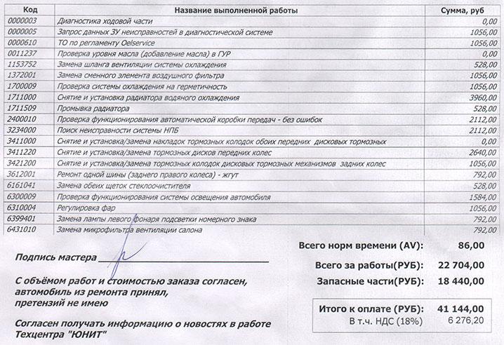 Юнит, ремонт-заказ 48-23-9-14